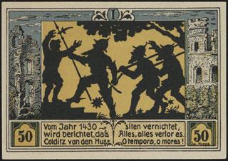 Германия. Кольдиц. 50 пфеннигов. 1921 г. Серия I.