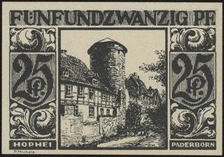 Германия. Падерборн. 25 пфеннигов. 1921 г.