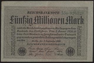 Германия. 50 миллионов марок. 1923 г. В/з «Kreuzbluten».