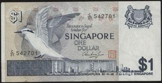 Сингапур. 1 доллар. 1976 г.