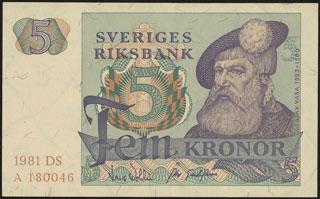 Швеция. 5 крон. 1981 г.