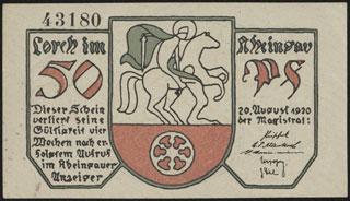Германия. Лорх. 50 пфеннигов. 1920 г.