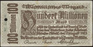 Германия. Мюнстер. 100 миллионов марок. 1923 г.