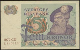 Швеция. 5 крон. 1972 г.
