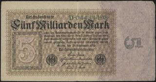 Германия. 5 миллиардов марок. 1923 г.