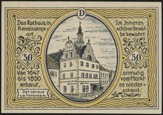 Германия. Кольдиц. 50 пфеннигов. 1921 г. Серия D.