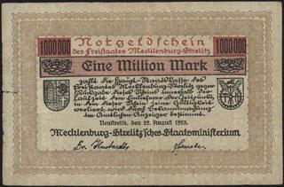 Германия. Мекленбург-Стрелиц. 1 миллион марок. 1923 г.