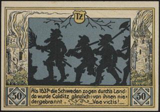 Германия. Кольдиц. 50 пфеннигов. 1921 г. Серия Tz.