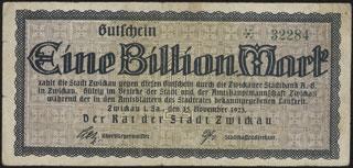 Германия. Цвиккау. 1 биллион марок. 1923 г.
