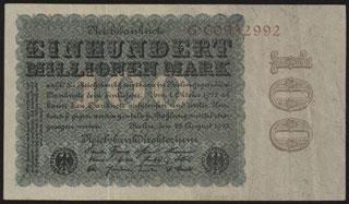 Германия. 100 миллионов марок. 1923 г.