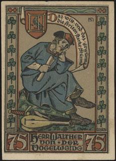 Германия. Айзенах. 75 пфеннигов. 1922 г.