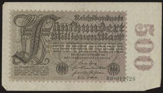 Германия. 500 миллионов марок. 1923 г. В/з «Kreuzbluten».