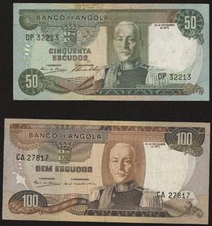 Ангола. 50 и 100 эскудо. 1972 г. Лот из 2 шт.