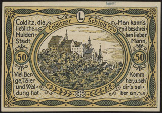 Германия. Кольдиц. 50 пфеннигов. 1921 г. Серия L.