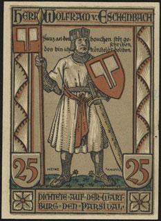 Германия. Айзенах. 25 пфеннигов. 1922 г.