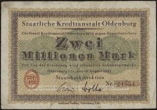 Германия. Ольденбург. 2 миллиона марок. 1923 г.