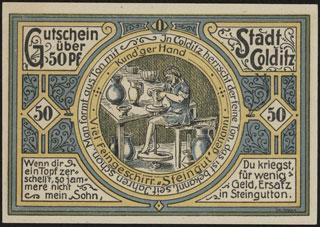 Германия. Кольдиц. 50 пфеннигов. 1921 г. Серия O.