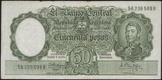 Аргентина. 50 песо. 1955 г.