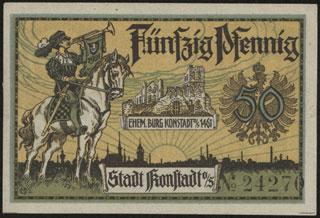 Германия. Конштадт. 50 пфеннигов. 1921 г.