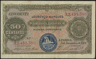 Ангола. 50 центаво. 1914 г.