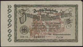 Германия. 20 миллионов марок. 1923 г.