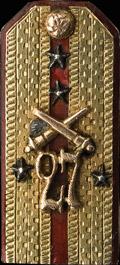 Жетон в виде погона капитана 27-го пехотного Полоцкого полка