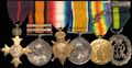 Колодка с шестью наградами капитана Т.Х. Ричмонда, служившего в медицинском подразделении Королевской армии и шотландском госпитале: