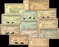 Екатеринодар. Отделение Государственного банка. Лот из 12 гарантированных чеков:
