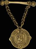 Знак помощника волостного старшины Лифляндской губернии (на булавке)