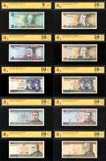 Лот из 10 бон Банка Литвы: