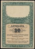 Польша. Военный заем. Облигация 20 злотых 1939 г.