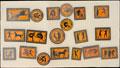 Коллекция из 19 значков, посвященных Олимпийским играм Древней Греции