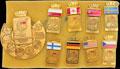 Коллекция из 9 значков, посвященная чемпионату мира и Европы по хоккею с шайбой 1986 г.