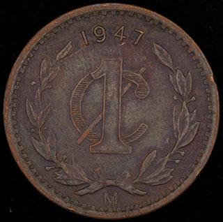 Мексика. 1 сентаво 1947 г. Медь