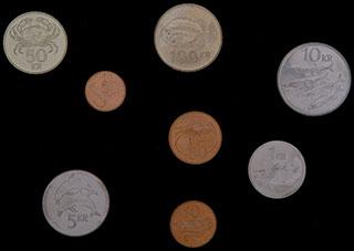 Исландия. Лот из монет 1981-2008 гг. 8 шт.