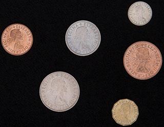 Великобритания. Лот из монет 1967 г. 6 шт.