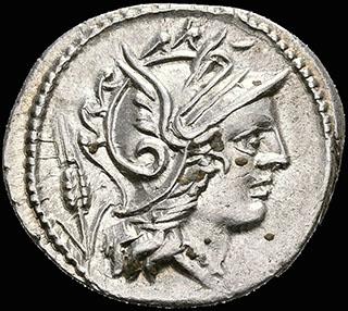 Римская Республика. Монетарий. Л. Юлий. Денарий 101 г. до н.э. Crawf. 323/1; Syd. 585. Серебро