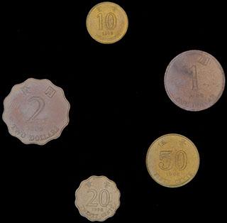 Гонконг. Лот из монет 1998 г. 5 шт.