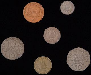 Гернси. Лот из монет 1983-1992 гг. 6 шт.