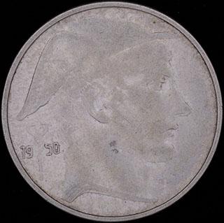 Бельгия. 20 франков 1950 г. Серебро