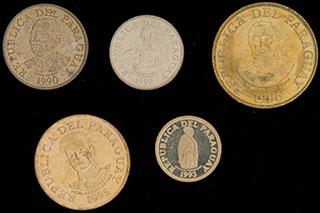 Парагвай. Лот из монет 1990-1996 гг. 5 шт.
