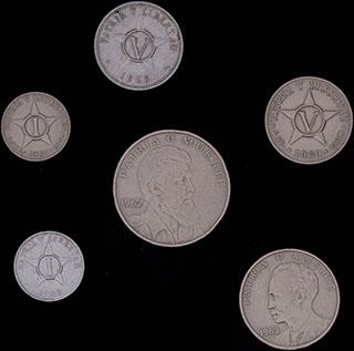 Куба. Лот из монет 1960-1982 гг. 6 шт.
