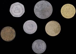Лот из монет стран Ближнего Востока 1977-2010 гг. 7 шт.