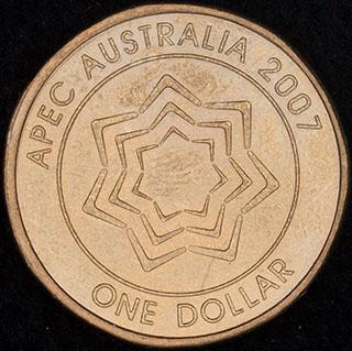Австралия. 1 доллар 2007 г. «Форум АТЭС в Австралии». Алюминиевая бронза