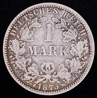 Германия. 1 марка 1875 г. Серебро