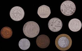 Лот из иностранных монет 1966-2011 гг. 10 шт.