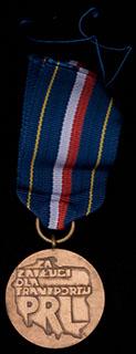 Польша.  Медаль «За заслуги на транспорте». Бронза. С оригинальной лентой