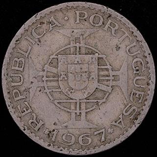 Кабо-Верде. 2,5 эскудо 1967 г. Никелевая бронза