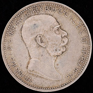 Австрия. 1 крона 1908 г.«60 лет правления Франца Иосифа I». Серебро