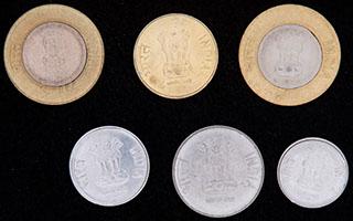Индия. Лот из монет 2011-2015 гг. 6 шт.
